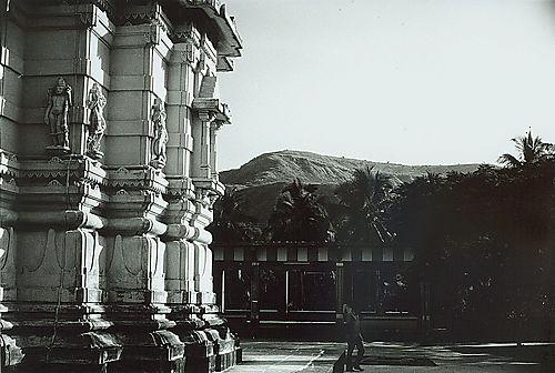 Temple. Against The Village Sky
