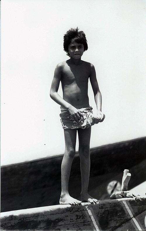 Bassein Village: Little Boy On The Boat
